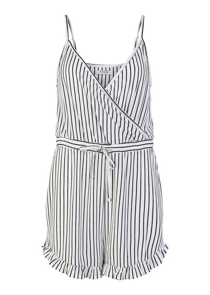 STRIPE FRILL PLAYSUIT