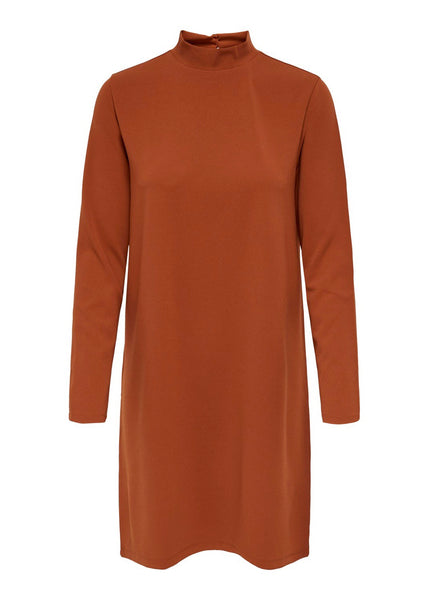 RUST HIGH NECK DRESS