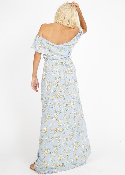 BLUE DAISY MAXI DRESS