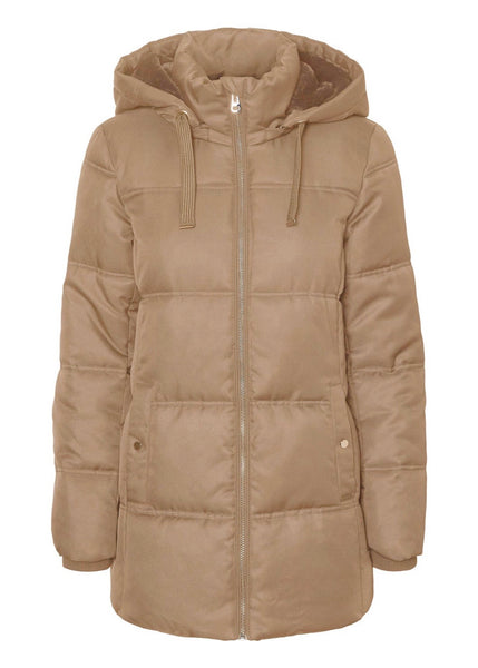 TAUPE PUFFER COAT