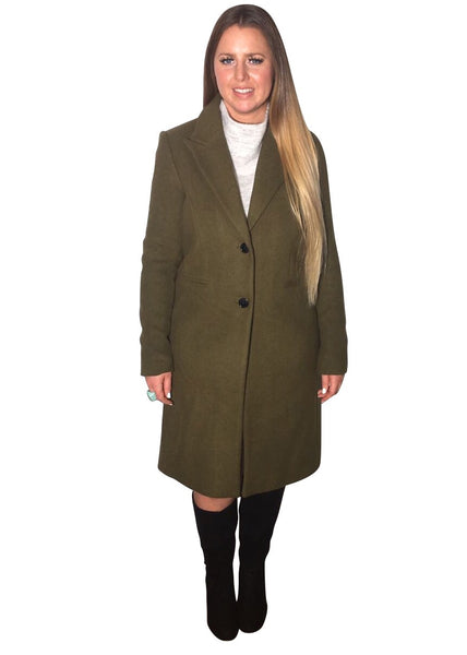 OLIVE GREEN TAILORED COAT