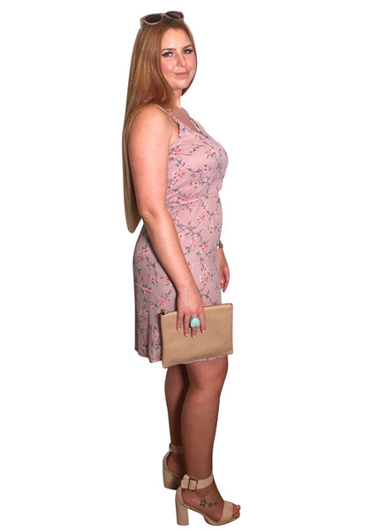 DUSKY PINK CAMI DRESS