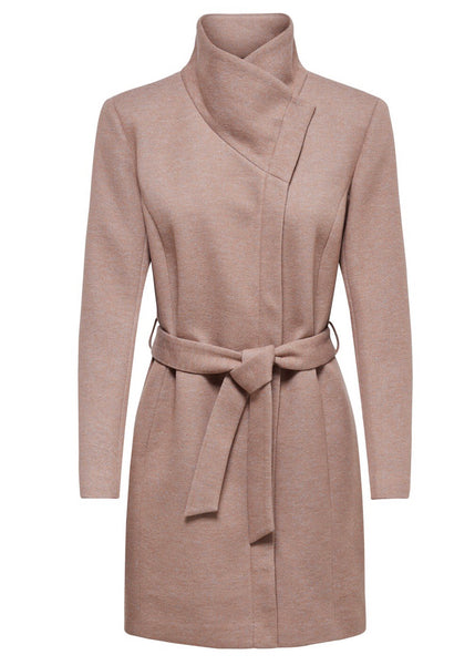 BLUSH COLLAR WRAP JACKET