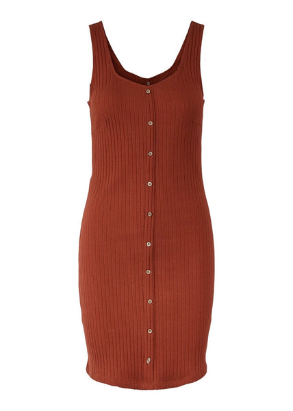 CHILLI OIL RIBBED DRESS