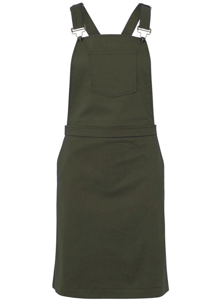 KHAKI DUNGAREE DRESS