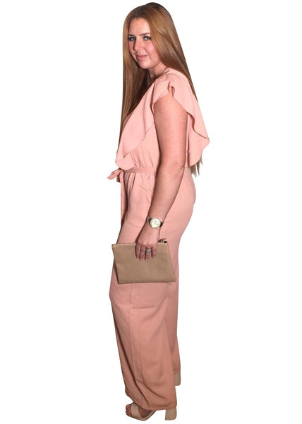 BLUSH WIDE LEG JUMPSUIT