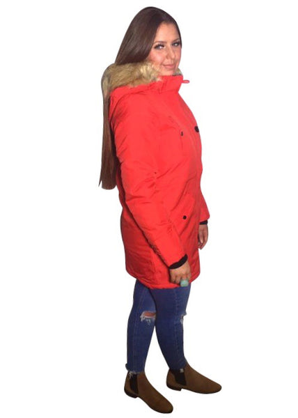 RED PARKA COAT