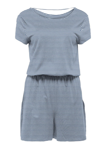 THIN BLUE STRIPE PLAYSUIT