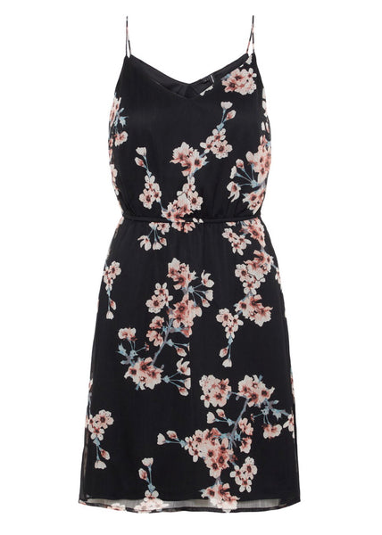 BLACK BLOSSOM CAMI DRESS