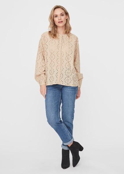 STONE EMBROIDERED BLOUSE