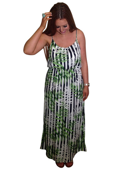 PALM TROPICAL MAXI DRESS