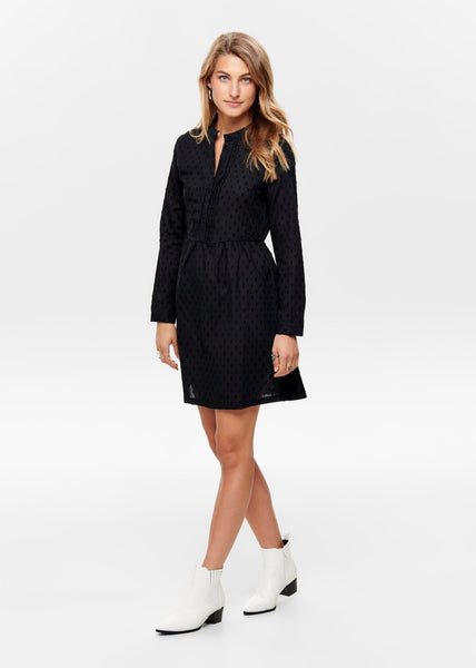 BLACK SPOT TUNIC DRESS