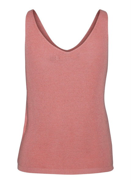 OLD ROSE KNIT VEST