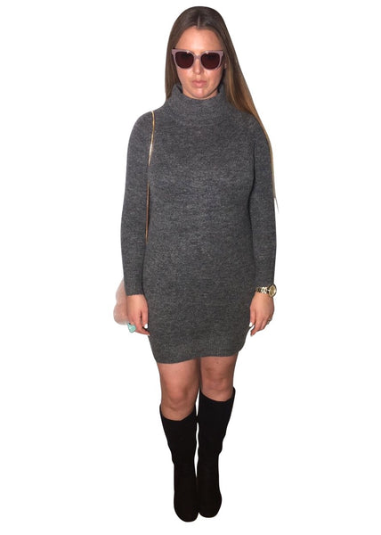 DARK GREY JUMPER DRESS