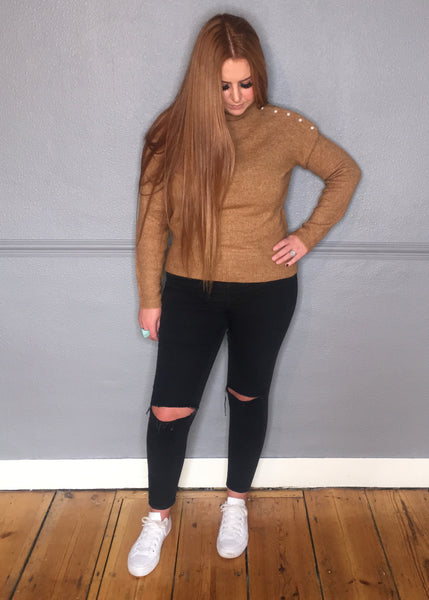 TAN PEARL JUMPER