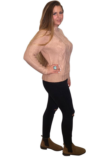DUSKY PINK CABLE JUMPER