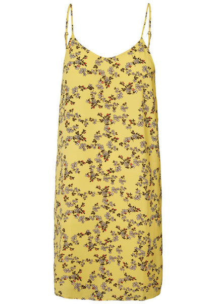 YELLOW DITSY CAMI DRESS