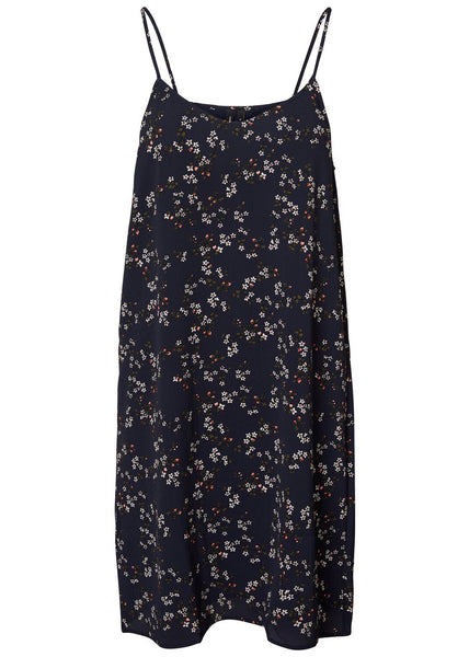 NAVY DITSY CAMI DRESS