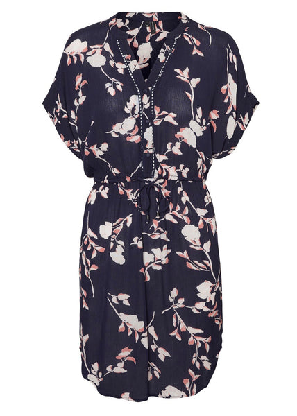 NAVY BLOSSOM TUNIC DRESS