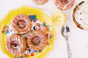 Acai and Lemon Baked Donuts