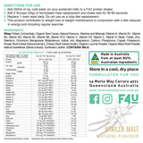 F4U Meal Replacement Vanilla Malt (10 meals) - Formulated For You
