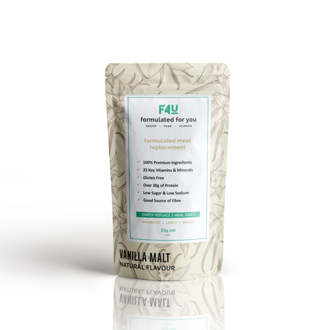 F4U Meal Replacement Vanilla Malt (1 meal) - Formulated For You