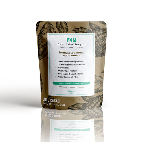 F4U Meal Replacement Choc Cacao (10 meals) - Formulated For You