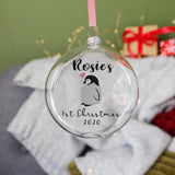 First Christmas Baby Penguin Christmas Bauble