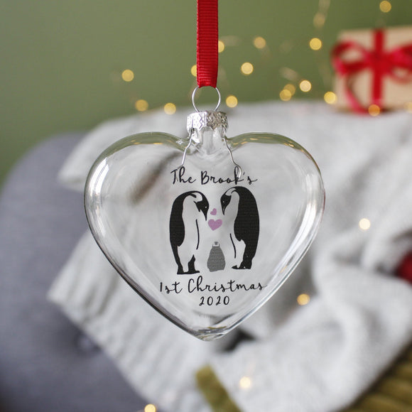 First Family Christmas Personalised Bauble - Olivia Morgan Ltd