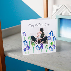 First Mother's Day Photo Floral Card - Olivia Morgan Ltd