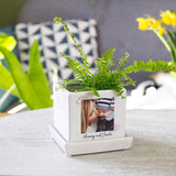 Photo Mini Cube Plant Pot For Her - Olivia Morgan Ltd