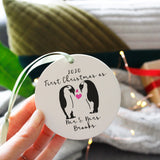 First Married Christmas Penguin Ceramic Decoration