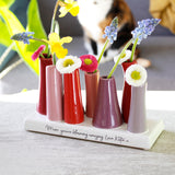 Blooming Amazing Quote Multi Stem Vase - Olivia Morgan Ltd