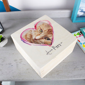 Pet Photo Personalised Keepsake Box - Olivia Morgan Ltd