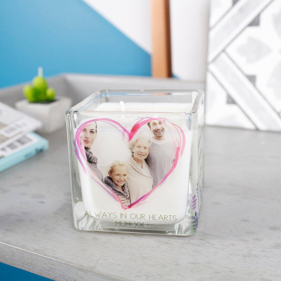In Memory Of Mum Photo Scented Candle - Olivia Morgan Ltd