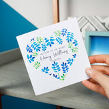 Floral Heart Personalised New Baby Card - Olivia Morgan Ltd