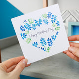 Floral Heart Mother's Day Card - Olivia Morgan Ltd