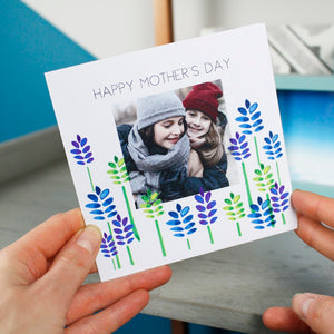 Happy Mother's Day Floral Photo Card - Olivia Morgan Ltd