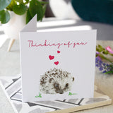 Thinking Of You Hedgehog Card - Olivia Morgan Ltd