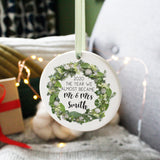 Postponed Wedding 2020 Wreath Hanging Christmas Decoration