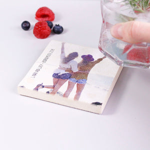 Best Friend Photo Personalised Coaster - Olivia Morgan Ltd