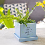 Thank You Mum Quote Cube Plant Pot - Olivia Morgan Ltd