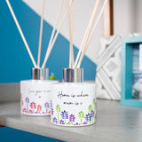 Floral Patterned Personalised Reed Diffuser For Mum - Olivia Morgan Ltd