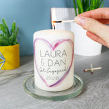 Engagement Personalised Candle - Olivia Morgan Ltd
