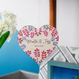 Anniversary Personalised Wooden Heart Decoration - Olivia Morgan Ltd