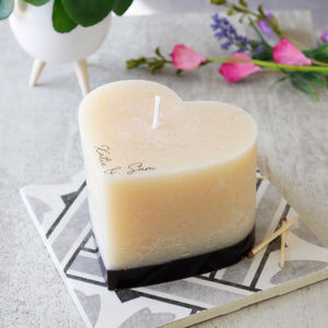 Heart Eco Friendly Wax Candle For Couples