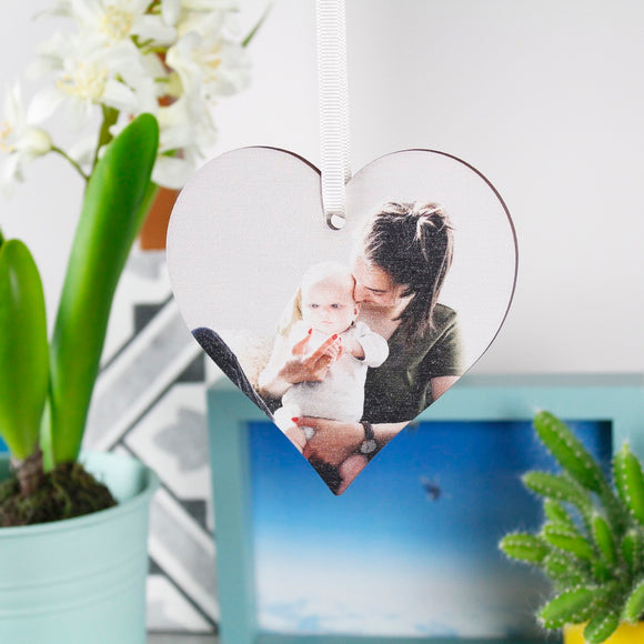 First Mother's Day Photo Heart Decoration - Olivia Morgan Ltd