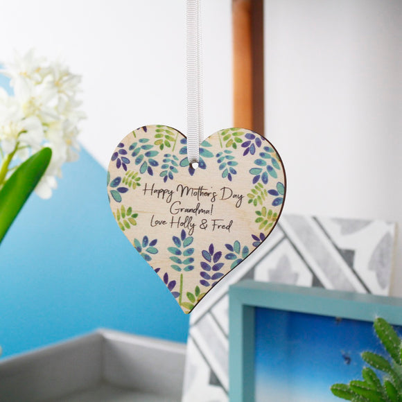 Mother's Day Floral Heart Decoration For Grandma - Olivia Morgan Ltd