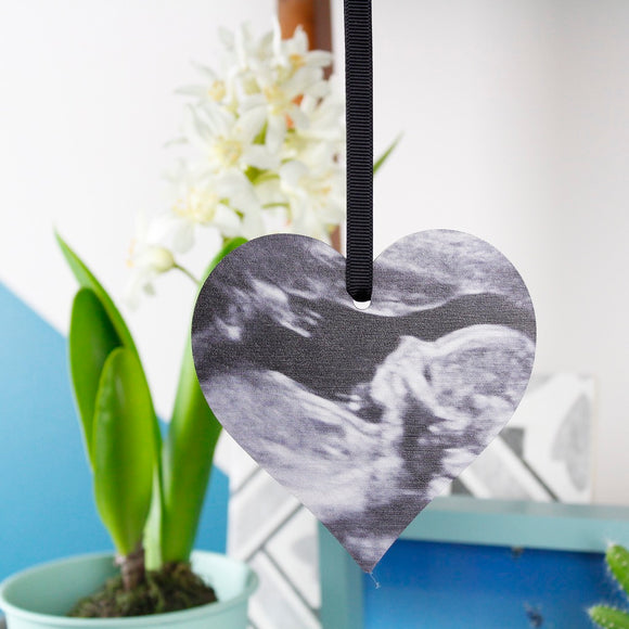 Baby Scan Photo Heart Decoration For Mums To Be - Olivia Morgan Ltd