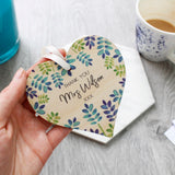 Teacher Thank You Heart Gift - Olivia Morgan Ltd